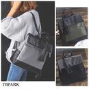 #Long Tassel Backpack タッセル付 コンビ素材 バックパック 全3色 通勤 通学 A4
