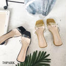#PVC Spike Sandals クリア スタッズ 変形ヒール ミュール サンダル 全2色