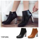 #Metal Heel Ankle Boots  シルバー メタル ヒール アンクル ブーツ 全2色 ショートブーツ
