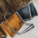 #2way Metal Handle  Big Tote Bag  巾着ポーチ付 メタルハンドル 大容量 トートバッグ 全2色