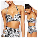 #Tribal Pattern High Waisted Bikini ハイウエスト トライバル柄 ビキニ  水着  カットアウト