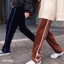 #Velvet  Side Line Pants  ベロア サイドライン リラックス  パンツ 全2色  ストリート