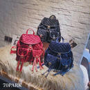 #Velvet Quilted Backpack ベロア キルティング ダブルポケット バックパック 全3色