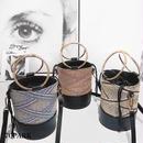 #2way Mix Color Basket Bag リングハンドル ミックスカラー かご バケツバッグ 全3色