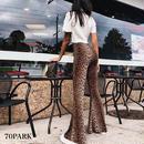 #Leopard Print Flare Pants レオパード柄 プリント ストレッチ フレアパンツ
