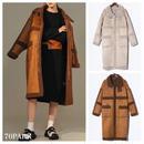 #Oversized Faux Mouton Coat オーバーサイズ フェイク ムートン ロング コート 全2色 ボア