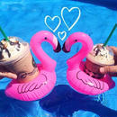 #Pink Flamingo Drink Holder-Float- ピンク フラミンゴ ドリンク ホルダー 2個セット 浮き輪