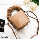#2way Fur Handle Bag  ファー ハンドル ミニ ショルダー バッグ 全3色  ファーストラップ