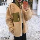 #Reversible Boa Jacket  リバーシブル ボア  ジャケット 全2色 ブルゾン
