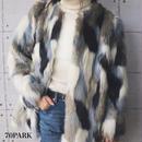 # Mix Color Fake Fur Coat  ミックスカラー ファーコート フェイクファー ファージャケット