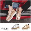 #Metallic Wingtip Platform Shoes メタリック ウイングチップ プラットフォーム 厚底 シューズ 全2色
