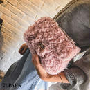 #Poodle faux fur chain bag プードルファー チェーン ショルダー バッグ 全6色 パーティー