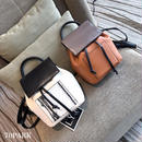 #Flap Mini Backpack  ビッグポケット フラップ バックパック 全4色 パイソン