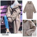 # Hooded  Boa Long Coat  ボア フーディー ロング コート  ベージュ 4サイズ