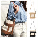 #Faux Leather Canvas Bucket Bag キャンバス×フェイクレザー 大容量 バケツバッグ 全3色
