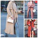 #Turndown Collar trench coat  ベルト付 シンプル ロング トレンチコート 全3色 テロンチ