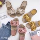 #Jute Bow Flat Sandals リボンモチーフ フラット ジュートサンダル 全3色