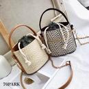 #2way Chain Basket Bag  チェーン ミニ かご バケツバッグ 全4色 ショルダーバッグ