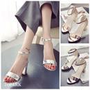 #Metallic Color Sandal メタリック カラー サンダル 全3色 パンプス 太ヒール