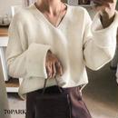 #Vneck Flare Sleeve Knit  Vネック フレアスリーブ ルーズ ニット 全5色