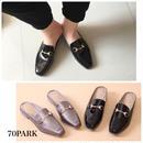 #Patent Leather Loafers エナメル レザー ローファー スリッパ スリッポン 2色