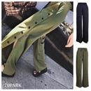 #Side Button Wide Pants  サイドボタン スリット ワイド パンツ 全2色 ルーズフィット