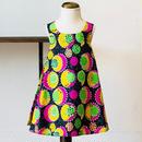北欧ブランドプリント柄ワンピース Suvi bebe SPACE Kids dress