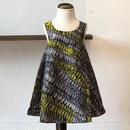 北欧ブランドプリント柄ワンピース Kids dress with lining Ohra print