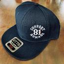 SUPPORT 81 SIDE Logo Cap_Black_Snapback