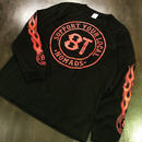 SUPPORT 81 FLAMES L/S Tee - BLACK