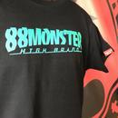 文字ロゴTシャツ 黒/緑