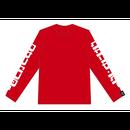 クサリセンターL/S tee (RED)