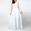 Genet Vivienスパンコールロング白ドレス_0111670