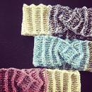 ひねり模様のヘアバンド -編み図データのみ-
