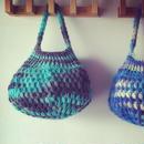 玉編みバスケット風バッグ編み図 毛糸つき キット