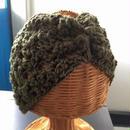 透かし模様で編むヘアバンド-編み図のみ-