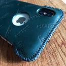 【1点物】iPhoneX用イタリアンオイルレザー製シンプルジャケット
