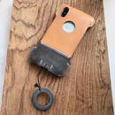 【アウトレット】iPhoneX用イタリアンオイルレザー製シンプルジャケット/A