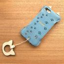 【1点物】iPhone7&8用/スカイブルーの猫耳ウォレットジャケット