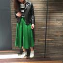 カラー フレアスカート