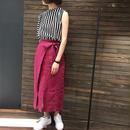 リネン タイト巻きスカート