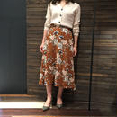 ミモレ丈 花柄スカート