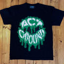 LOGO TEE BLACK×GREEN