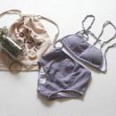 lavender color crinkle swim suit