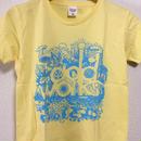 LOGO T-shirts(Light Yellow×Aqua Blue)