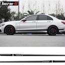 ベンツ W204 Cクラス AMG マットブラック サイドストライプ ステッカー