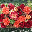 23000円 ダリアとバラの鮮やかウォールガーデン