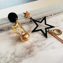black & gold asymmetry star
