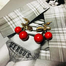 cherry pierce/earring