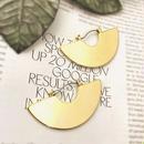 semi circle gold pierce